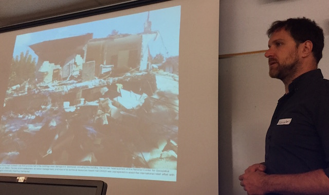 _Schuyler Erle shows what happened to Haiti's mapping office post earthquake._