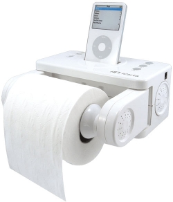 Holds toilet paper and an iPod, but is it an alibi for murder?