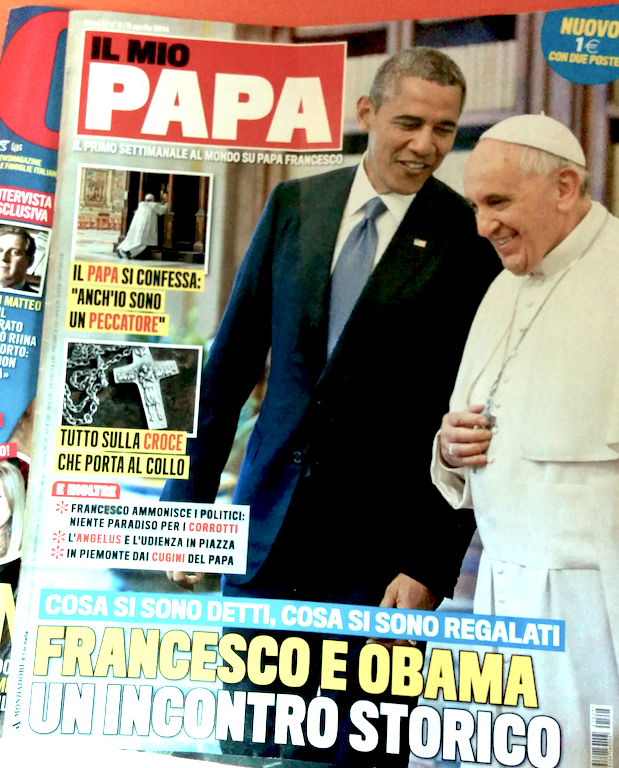 "This week's edition of ""Il Mio Papa."""